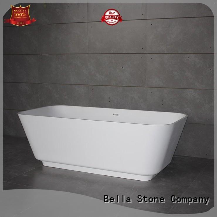 60 freestanding bathtub pure resin deep freestanding tub Bella Brand