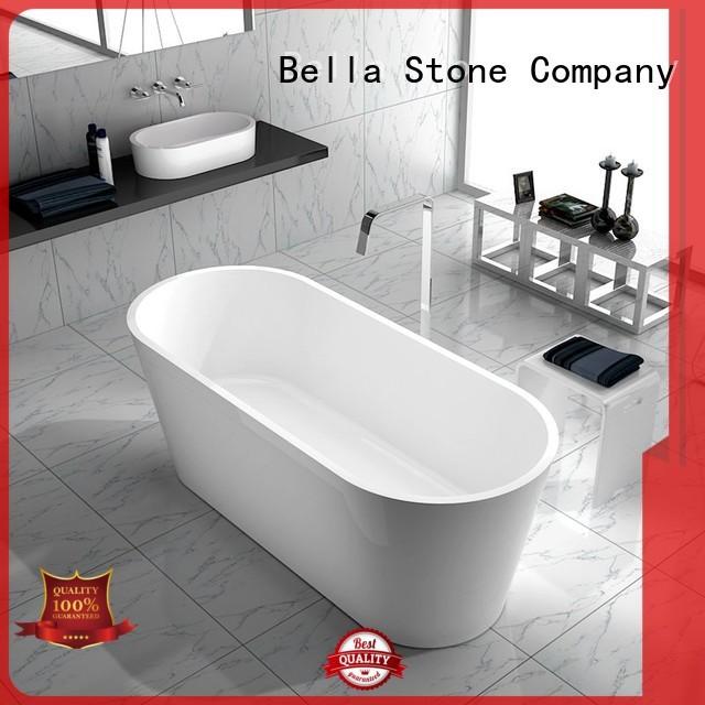 Bella Brand artificialstone solidsurface custom 60 freestanding bathtub