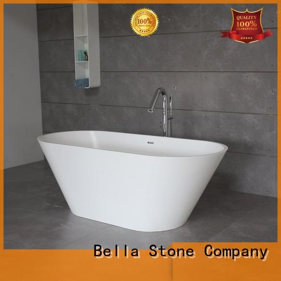 designer solidsurface capital Bella Brand deep freestanding tub