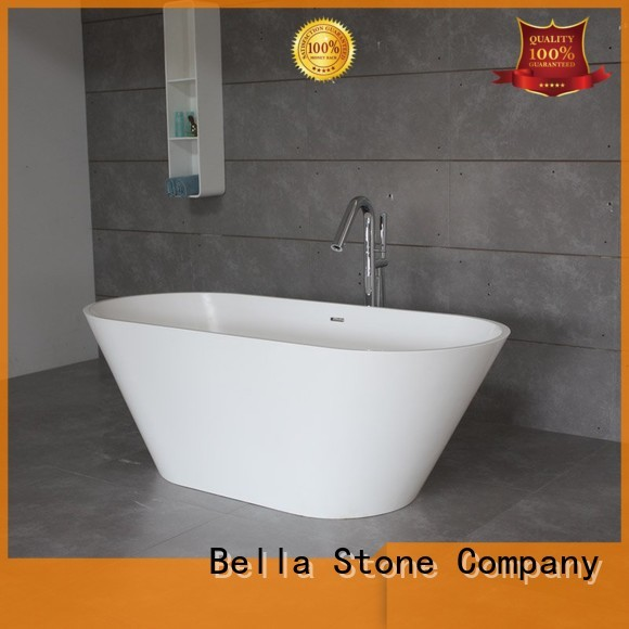 designer solidsurface capital Bella Brand deep freestanding tub