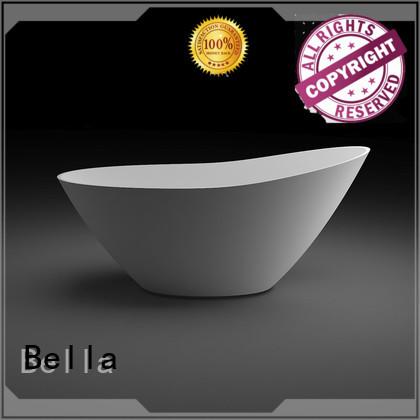 Wholesale solidsurface acrylic deep freestanding tub Bella Brand