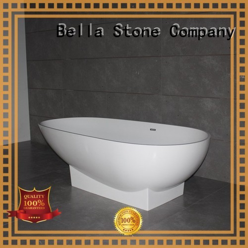 solidsurface 60 freestanding bathtub lightweight deep freestanding tub Bella Brand designer freestanding artificialstone