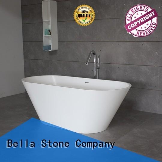 60 freestanding bathtub lightweight artificialstone acrylic Bella Brand deep freestanding tub