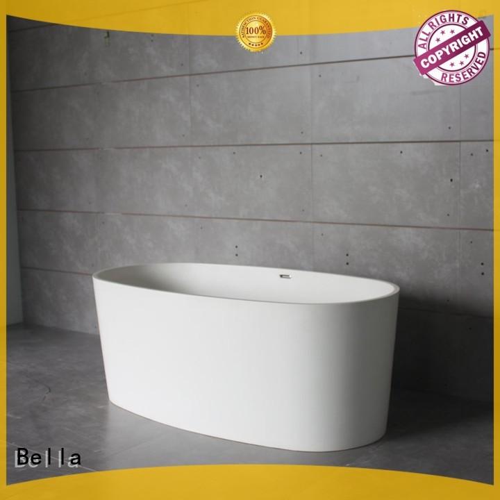 Bella Brand resin designer 60 freestanding bathtub artificialstone supplier