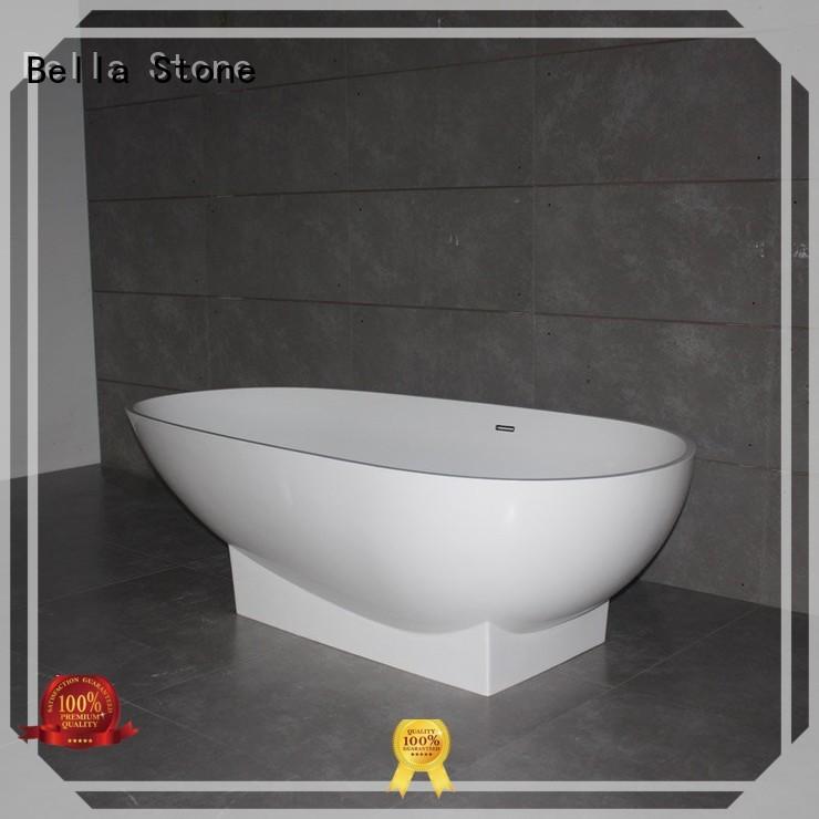 artificialstone designer deep freestanding tub Bella Brand