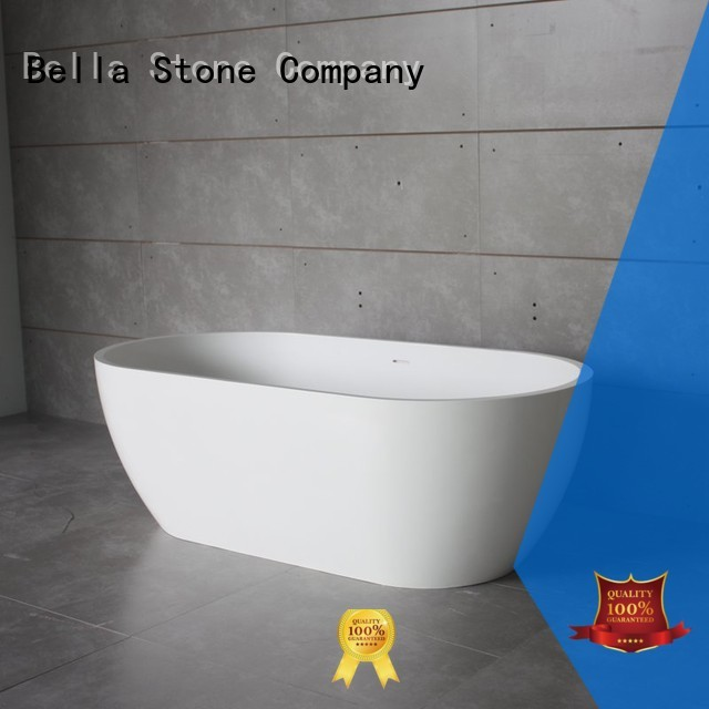 Bella Brand pure modified solidsurface deep freestanding tub manufacture