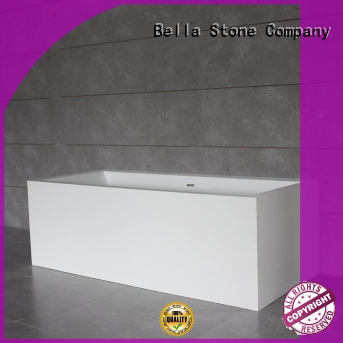 solidsurface deep freestanding tub artificialstone capital Bella company