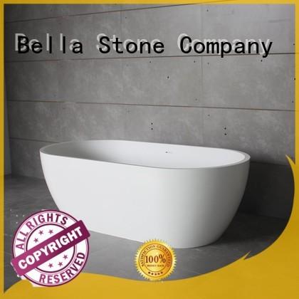pure designer deep freestanding tub artificialstone Bella