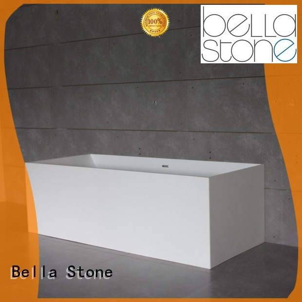 Hot artificialstone deep freestanding tub designer pure Bella Brand