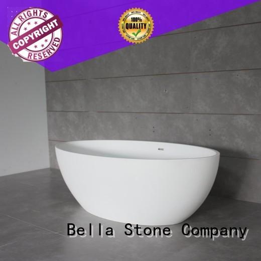 capital resin deep freestanding tub artificialstone Bella company