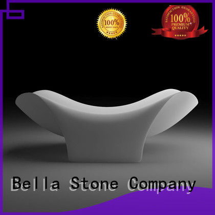 Bella Brand solidsurface resin custom 60 freestanding bathtub