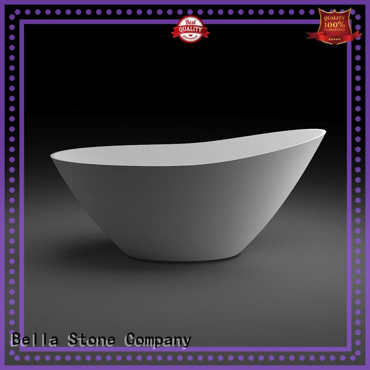 60 freestanding bathtub artificialstone Bella Brand deep freestanding tub
