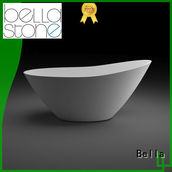 Custom acrylic deep freestanding tub resin Bella