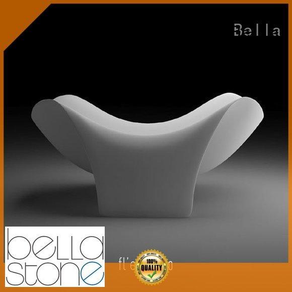 artificialstone modified deep freestanding tub Bella Brand