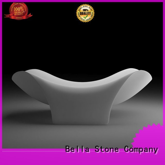 Bella deep freestanding tub artificialstone surface solidsurface lightweight