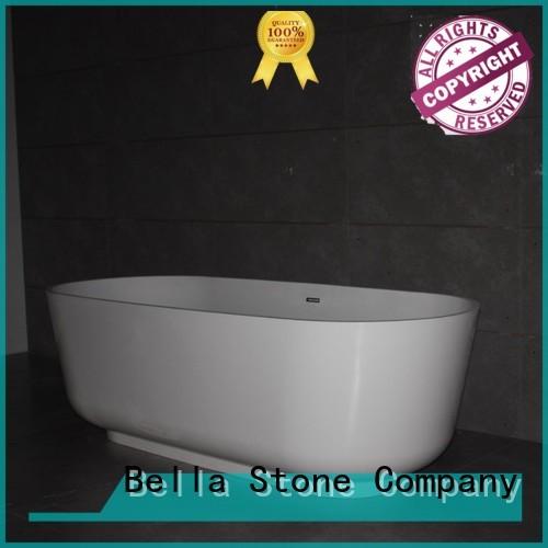lightweight designer modified acrylic deep freestanding tub Bella