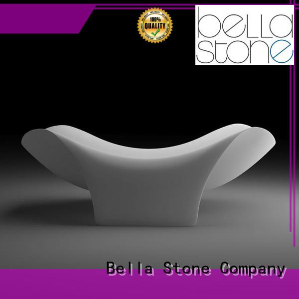 Bella Brand pure solidsurface lightweight designer deep freestanding tub